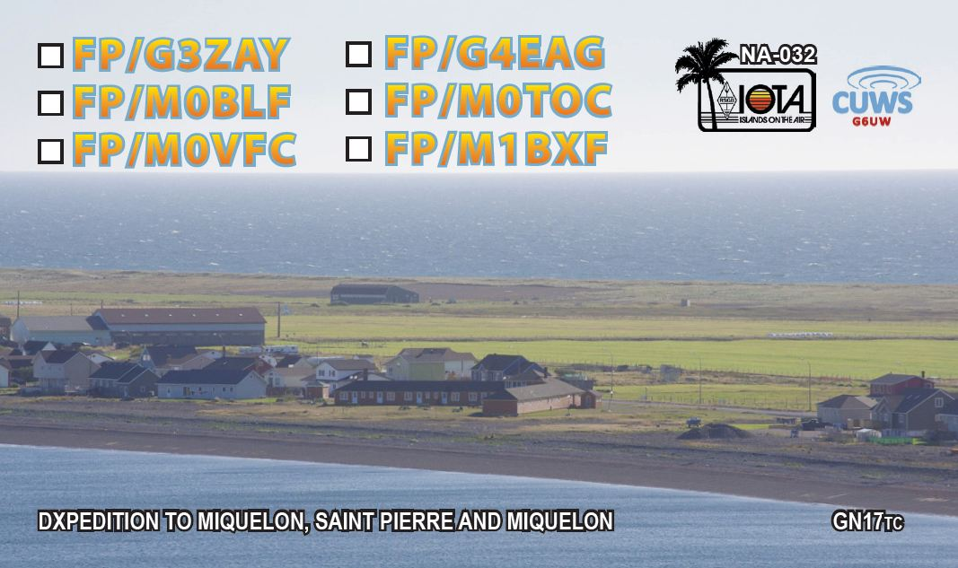 QSL showing the Motel de Miquelon