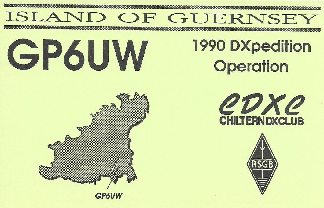 DXpedition QSL card