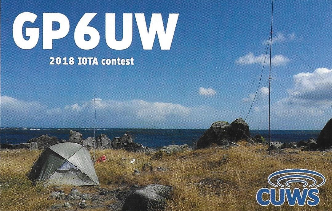 QSL card for GP6UW