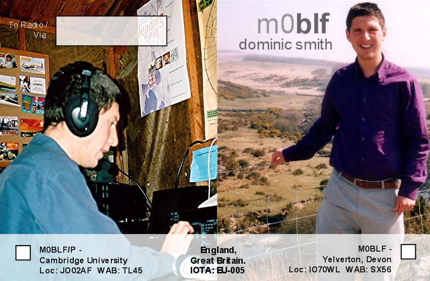 Left: Me operating M4A in CQWW SSB 2003, Right: Me at Two Bridges, which is near my home QTH on Dartmoor.